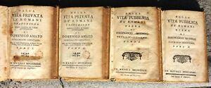 VITA-PRIVATA-E-VITA-PUBBLICA-DE-ROMANI-1783-84-DUE-OPERE-ARCHEOLOGIA-RARE