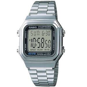 Casio-A178WA-1A-Vintage-Series-Silver-Tone-Retro-Stainless-Steel-Digital-Watch
