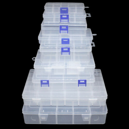 Plastic Storage Box Fishing Lure Bait Hook Tackle Case Container Accessories