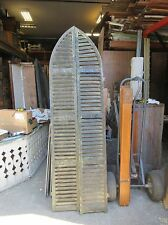 """PAIR circa 1880's ARCHED TOP victorian era HOUSE shutters OLD GREEN 87"""" x 12.75"""""""