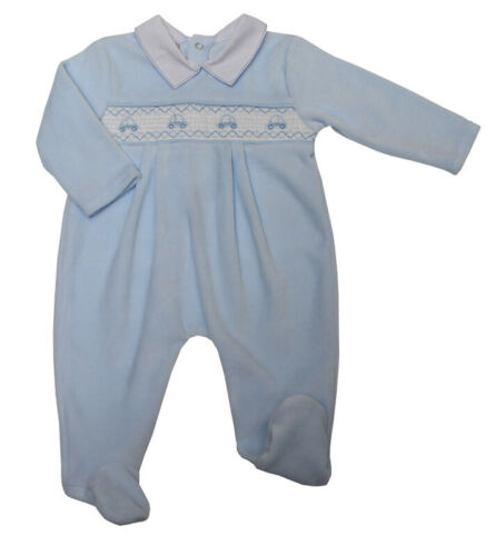 NEW Spanish Style Baby boys 2 piece Blue white Stripe Romper /& top 0-9 months