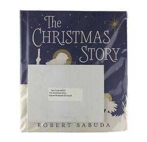 The Christmas Story Pop Up Book Robert Sabuda Signed Book Plate Children's Xmas