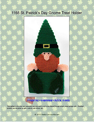 Gnome Treat Holder-Christmas Plastic Canvas Pattern or Kit