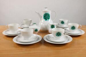 Thomas-Rotunda-Kaffee-Service-Tapio-Wirkkala-Porzellan-Prilblume-Gruen-21teilig