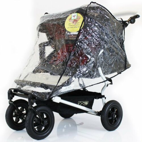 Professional High Quality Raincover Mountain Buggy Duet Twin Double Pushchair