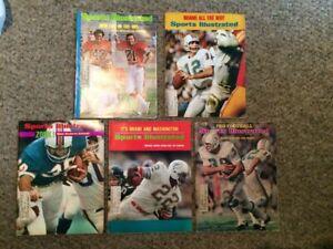 5 Vintage 1972/73 Sports Illustrated Miami Dolphins Magazines Super Bowl VI&VII