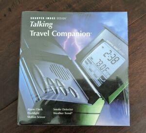 Sharper-Image-Talking-Travel-Companion-SI652-Alarm-Clock-Flashlight-Motion-Sen