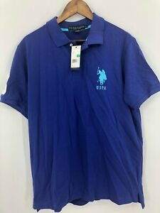 US-Polo-Association-Men-039-s-New-With-Tags-Blue-Short-Sleeve-Polo-Shirt-Size-L