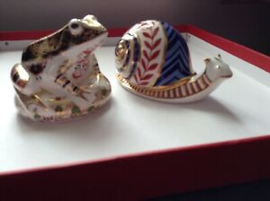 Royal Crown Derby Snail Paperweight Ceramic Stopper 2nd