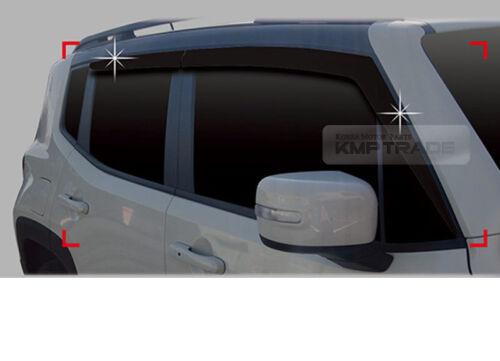 2/_Door Window Smoke Vent Visor Rain Guard Deflector 4P for JEEP 2015-17 Renegade