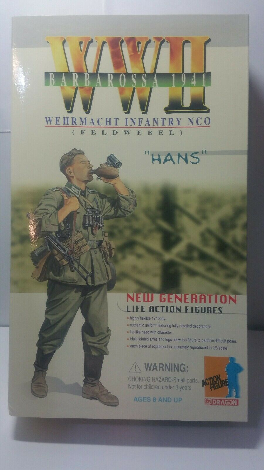 Dragon WWII Barbarossa 1941 Wehrmacht Infantry NCO  12  azione cifra Hans 70002  alto sconto