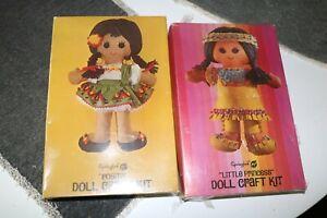 "Complete New In Box Vintage 1970 Springbok /""Nyasha/""  African Doll Craft Kit"