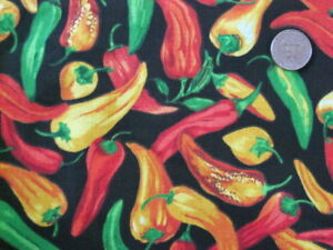 Red Hot Chili Pepper Black Tex Mexican Salsa Sew Craft