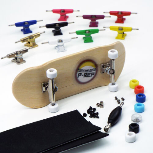 P-REP NOLO 34mm Bamboo Complete Wooden Fingerboard - Pick Trucks and Wheels
