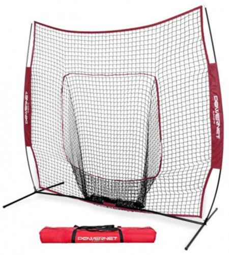 POWERNET TEAM COLOR HITTING PITCHING  BASEBALL SOFTBALL 7X7 NET SCREEN W BAG