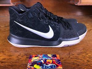 ae61f8f3e5e4 Nike Kyrie 3 Black White Silt Red Suede Mens Basketball Shoe 852395 ...