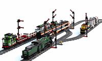 2x Signal für Lego®  Eisenbahn - Zug - Train - 9V - 12V -Bahnhof - RC Train -Lok