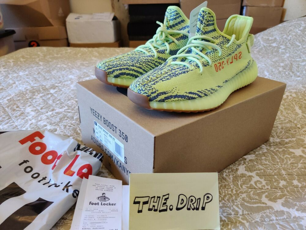 Adidas Yeezy Boost 350 V2 Semi-frozen Jaune B37572 Uk11 Footlocker Réception