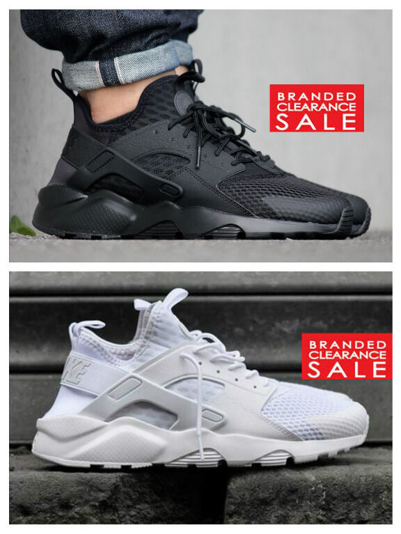BNIB New Hommes Nike Air Trainer Huarache Run Ultra BR Trainer Air Triple Noir blanc 9 10 11uk 509fcd