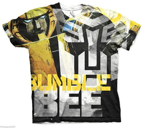 TRANSFORMERS BUMBLE BEE  Allover T-Shirt  camiseta officially licensed