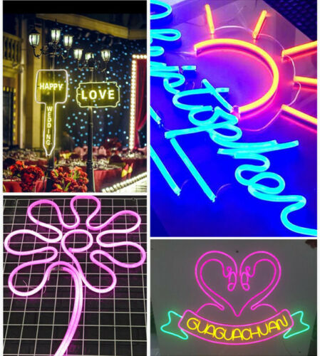 5m 360° Round LED Neon Rope Light Party DIY Project AD Sign Decor Outdoor 110V
