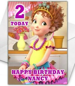 Fancy Nancy Clancy Personalised Birthday Card Large A5 Disney Fancy Nancy 2 Ebay