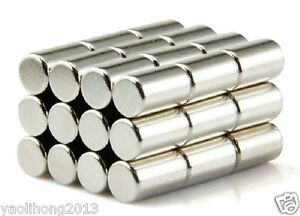 10pcs Cylinder Rare Earth Neodymium Magnets 5 x 10 mm N50 Disc Round Magnets