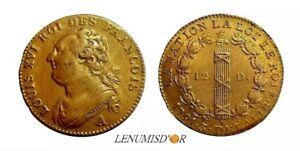 LOUIS XVI 12 Deniers 1791 A Paris