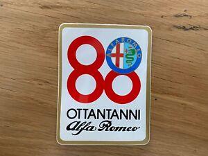 Adesivo 80 Anni Alfa Romeo Vintage Originale Nuovo 7 X 9 Cm