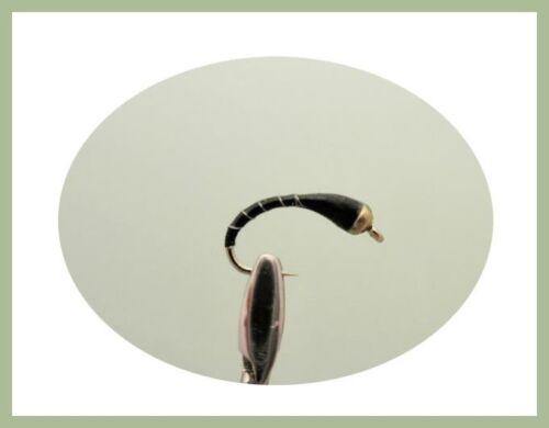 Or tête Buzzer truites mouches 12 Pack Olive /& noir mixte taille 12//10//14 pêche