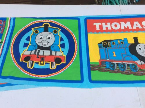 Thomas The Tank Engine 100/% Cotton Fabric Cushion Panels 4 Panels