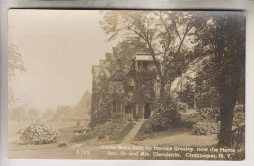 1912 RPPC HOME OF REV. DR. AND MRS. CLENDENIN CHAPPAQUA NEW YORK