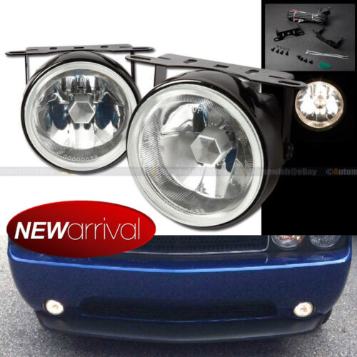 """For S10 3.5/"""" Round Clear Lens White Bumper Fog Light Lamp Switch /& Harness"""