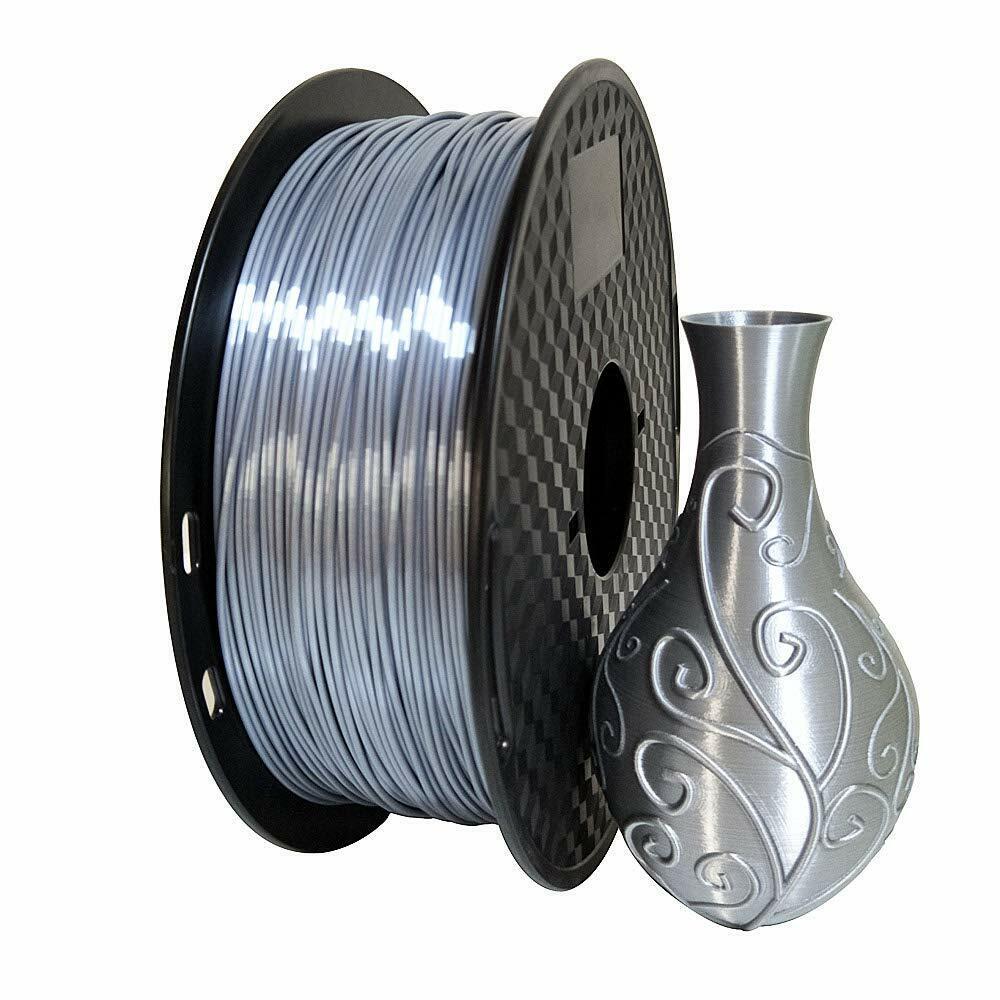 Silver Flexible TPU 3D Printing Filament 1kg/2.2lb 1.75mm Similar to NinjaFlex