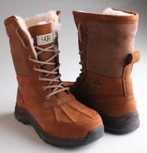 80c798f9010 Details about UGG Womens Chestnut Brown Leather Adirondack III Winter Snow  Boots 1017430 NIB