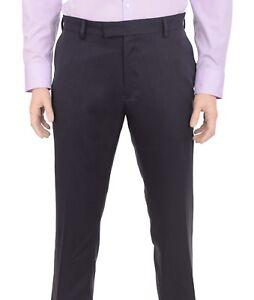 Kenneth Cole NY Slim Light Tan Cotton Stretch Flat Front Prehemmed Dress Pants