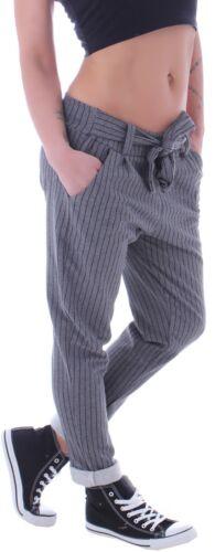 Damen Chino Hose Sporthose Hüfthose Jogpants Boyfriend Streifen Jogginghose D107
