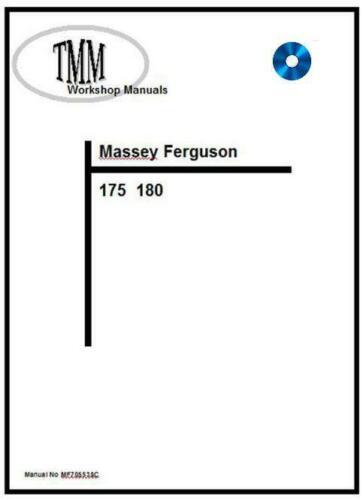Massey Ferguson TMM 175 180 Series Manual de Taller Digital