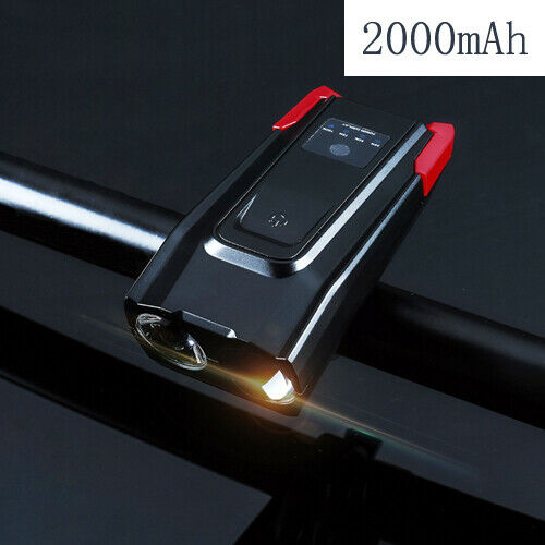 4000mAh Induction Bicycle Front Light USB Headlight With Horn LED Bike Lamp