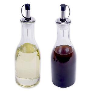essig und l spender mit ausgie er essigspender lspender flasche glas 2er set ebay. Black Bedroom Furniture Sets. Home Design Ideas