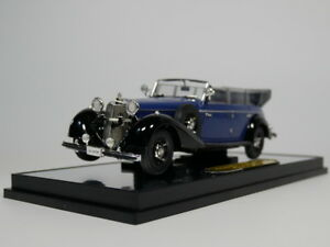 Automotive Mercedes-benz 770 Cabriolet F Year 1938 Black 1:43 Altaya Excellent Quality Model Building