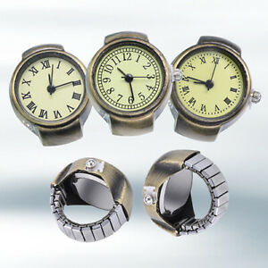 AM-Women-Vintage-Punk-Round-Alloy-Quartz-Finger-Ring-Watch-Watches-Eager-Lot-So
