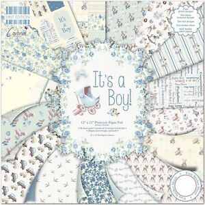 Dovecraft 12x12 First Edition Paper Pack - It's A Boy