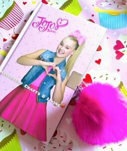 💖 Jojo Siwa Bow Power A5 Lockable Diary w Pom Pom Keyring  d0271864d