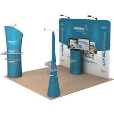 10ft Portable Tension Fabric Tube Trade Show Display Pop Up Stand Booth Exhibits