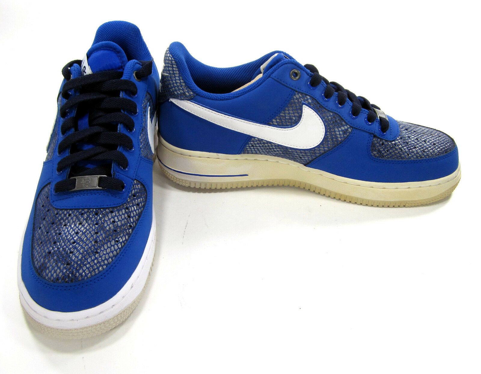 Nike shoes Air Force 1 Low Low Low Game Royal White Blackened bluee Sneakers Size 9 640e58