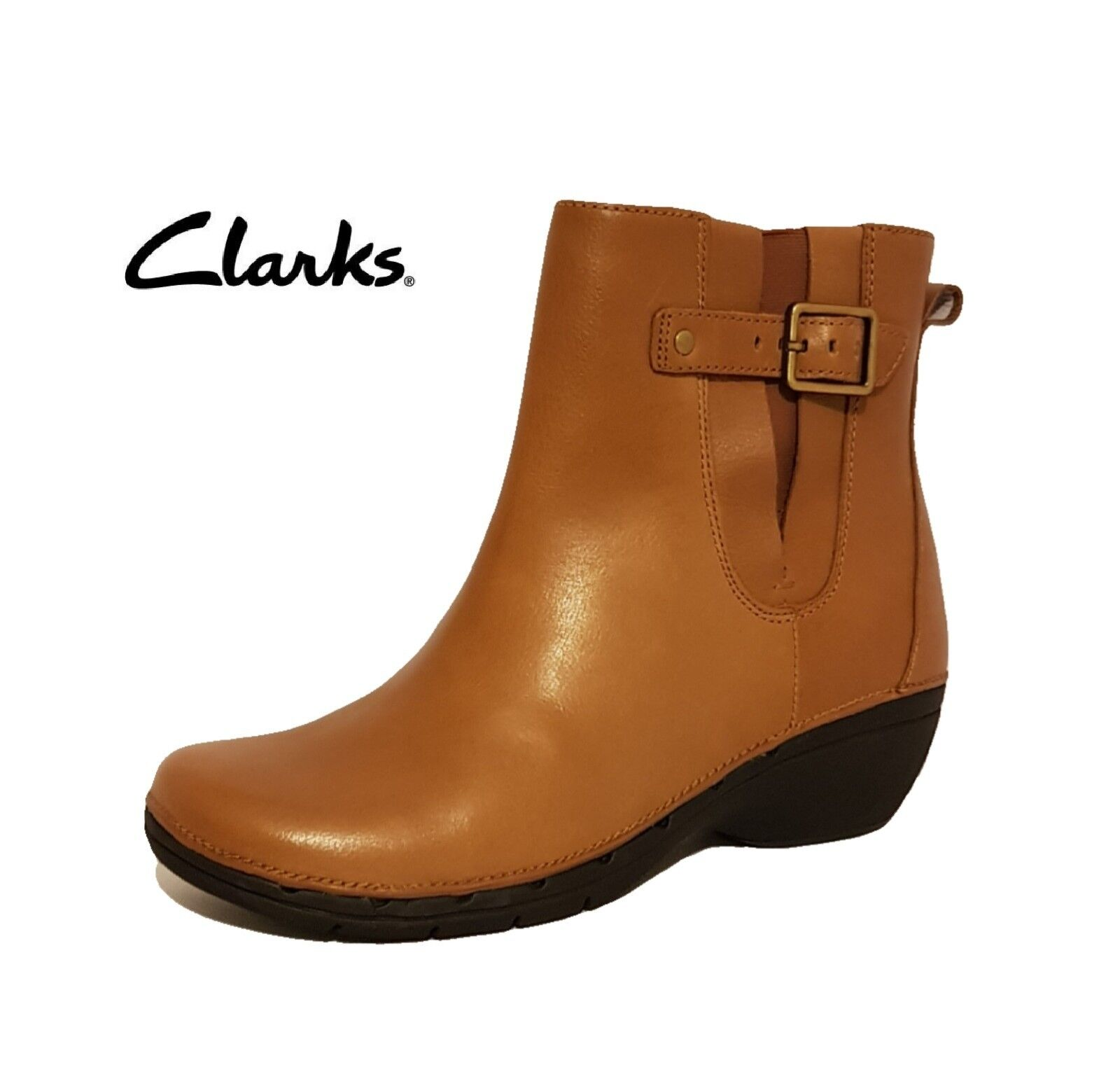 e8863601519 Nuevo CLARKS UNSTRUCTURED un desfile en Marrón Genuino leatherr Tobillo Botas  Damas