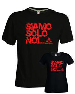 T-shirt-Vasco-Siamo-solo-noi-vasco-rossi-blasco-ottimo-cotone-nera-uomo-donna