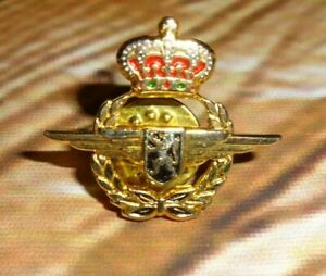 Details about Pin Crown Lion Crest Gold Tone Airplane Wings Foreign Military Air Force 1