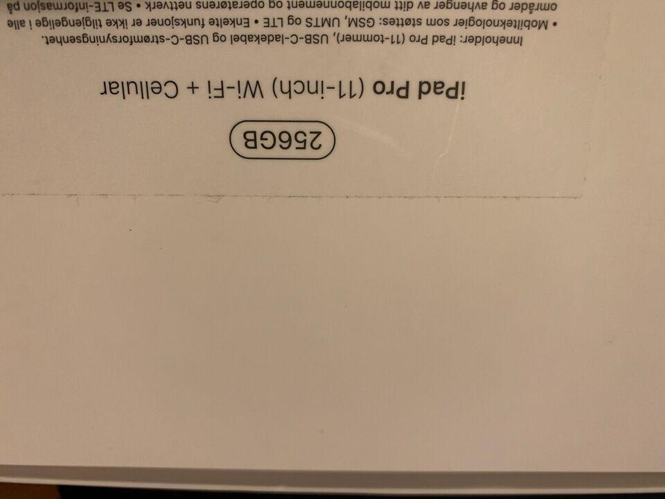 """Leder efter en Ipad Pro 3 12,9"""" med 256gb og 4g..."""